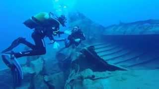 Millrace Family - Diving in Gran Canaria With Blue Water Diving Mogan Wreck Amazing Dive