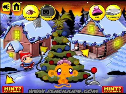Прохождение игры Веселые обезьянки - рождество