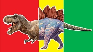 Wrong Heads Dinosaurs! Match Up Game Dimetrodon Parasaurolophus Stegosaurus Tyrannosarus Rex Crying