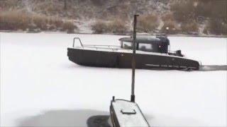 Катер ледокол XO в начале зимы | Всепогодные морские катера XO Boats из алюминия Премиум класса.