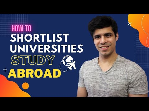 How to Shortlist Universities for your profile || Study Abroad