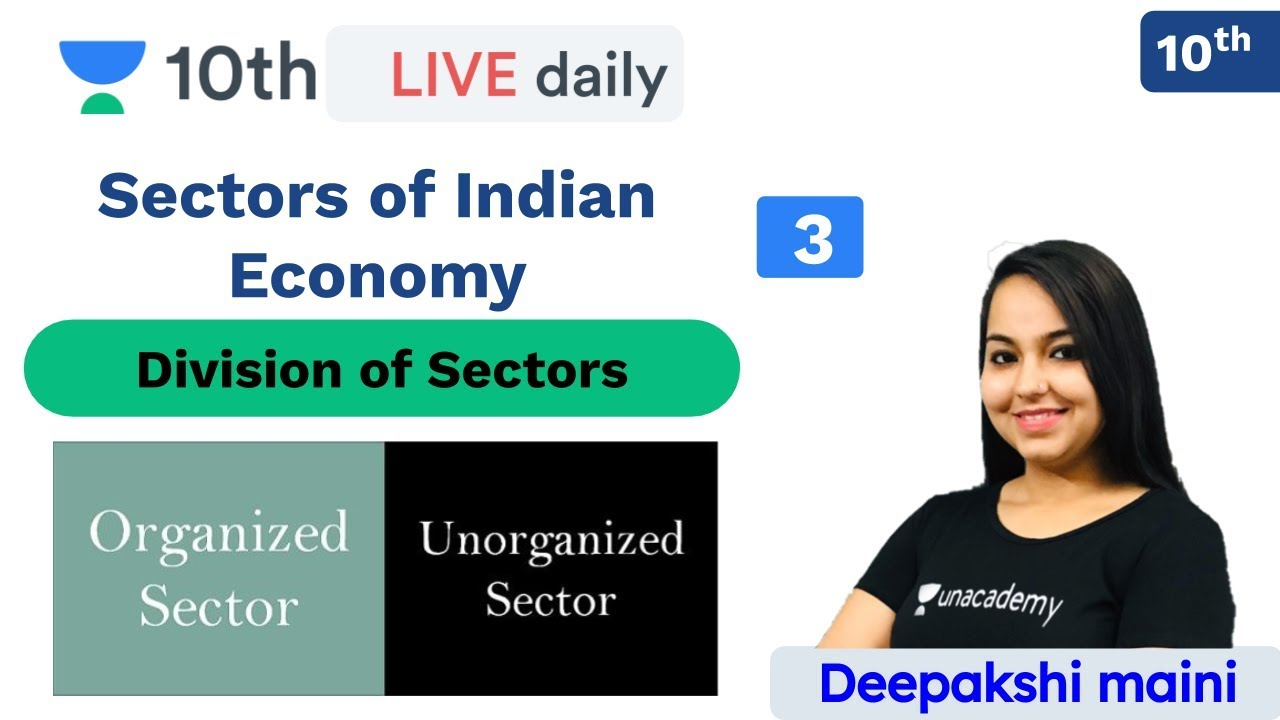 CBSE: Sectors of Indian Economy - L 3 | Economics | Unacademy Class 9 and 10 | Deepakshi Maini