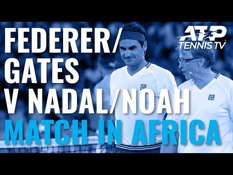 Roger Federer & Bill Gates v Rafa Nadal & Trevor Noah   Match In Africa 2020 Doubles Highlights