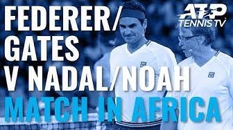 Roger Federer & Bill Gates v Rafa Nadal & Trevor Noah | Match In Africa 2020 Doubles Highlights