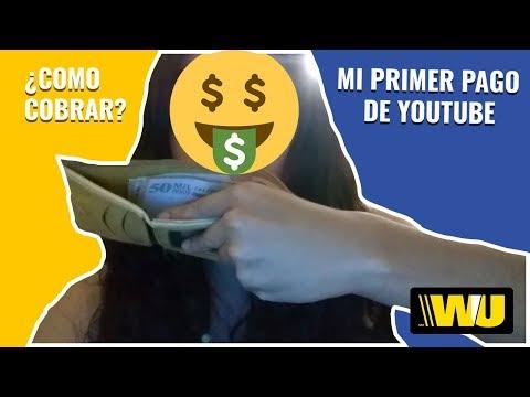 YouTube si paga? Mi primer pago en EFECTIVO - Como cobrar AdSense/Western Union