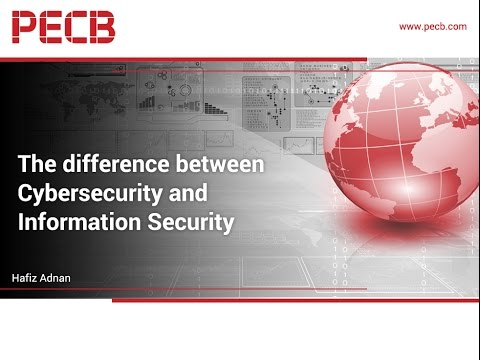 The difference between Cybersecurity and Information Securit