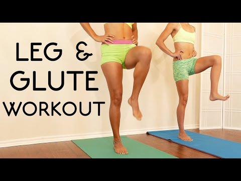 20 Minute Butt & Leg Workout for Beginners: Tone Legs, Thin Thighs, At Home Routine