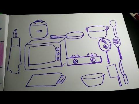 Cara Menggambar Alat Masak Untuk Pemula Youtube