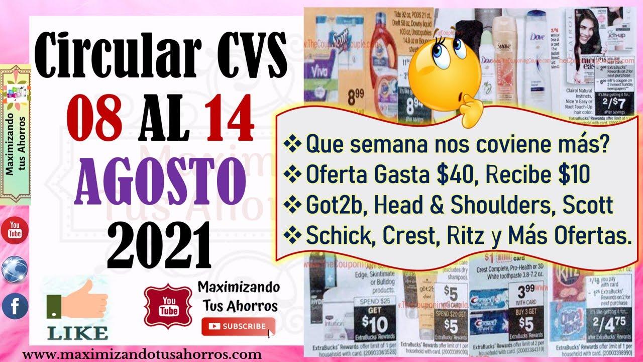 💥🤔Que paso con las ofertas❓Got2b, Clairol y Más👉Circular CVS 8/8/21 al 8/14/21