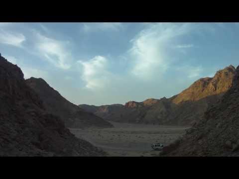 Egyptian Eastern desert time lapse