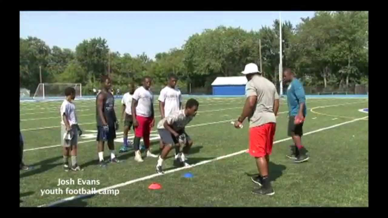 Josh evans( Jacksonville Jaguars)youth football camp 2014 YouTube