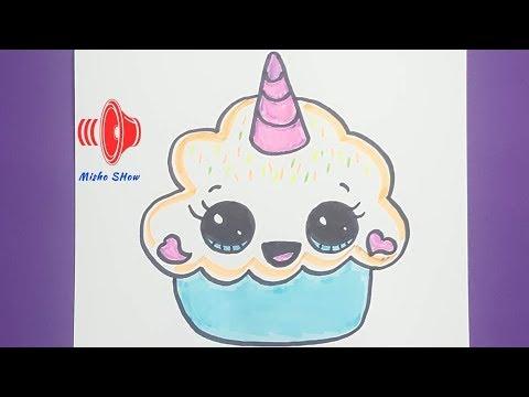 رسم كب كيك كيف ترسم كب كيك خطوة بخطوة How To Draw A Cute Cupcake Unicorn Youtube