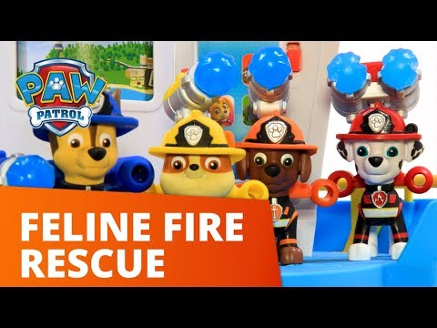 PAW Patrol | Marshall's Ultimate Fire Truck Helps Rescue Cat In Tree - Toy Epsiode