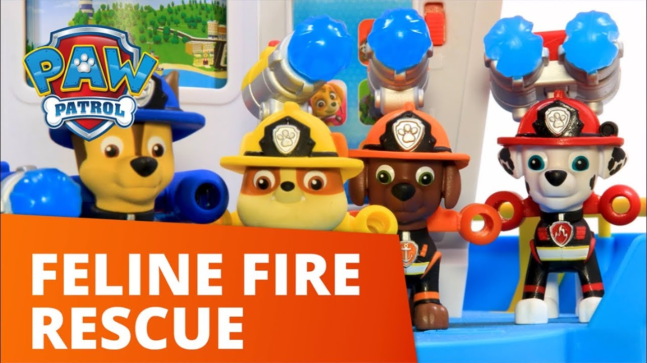 PAW Patrol | Marshall's Ultimate Fire Truck Helps Rescue Cat In Tree | Toy Episode