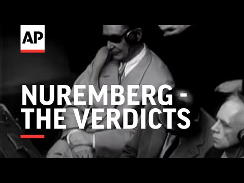 NUREMBERG - THE VERDICTS - (Nuremberg Trial)