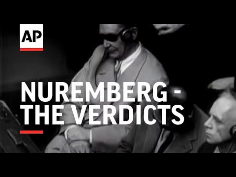 NUREMBERG - THE VERDICTS - (Nuremberg Trial)