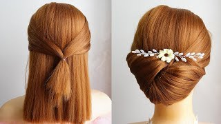 Easy Diy Updo Hairstyle Wedding Prom Updo Tutorial Shorts
