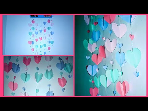 How to Make DIY Paper Love Wall Hanging || Easy Wall Decoration Idea ||