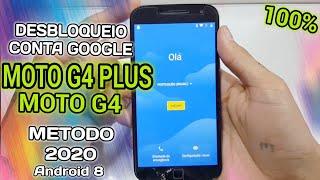 MOTO G4 PLUS / G4 - DESBLOQUEIO CONTA GOOGLE  ANDROID 8.1