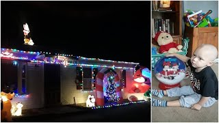Neighborhood decorates for Christmas early to celebrate with boy dying of cancer