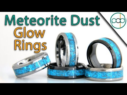 Making Ceramic Glow Rings with Meteorite and Copper Dust