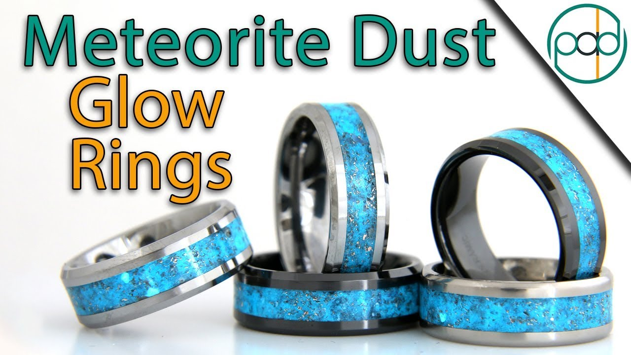 Making Ceramic Glow Rings With Meteorite And Copper Dust Youtube