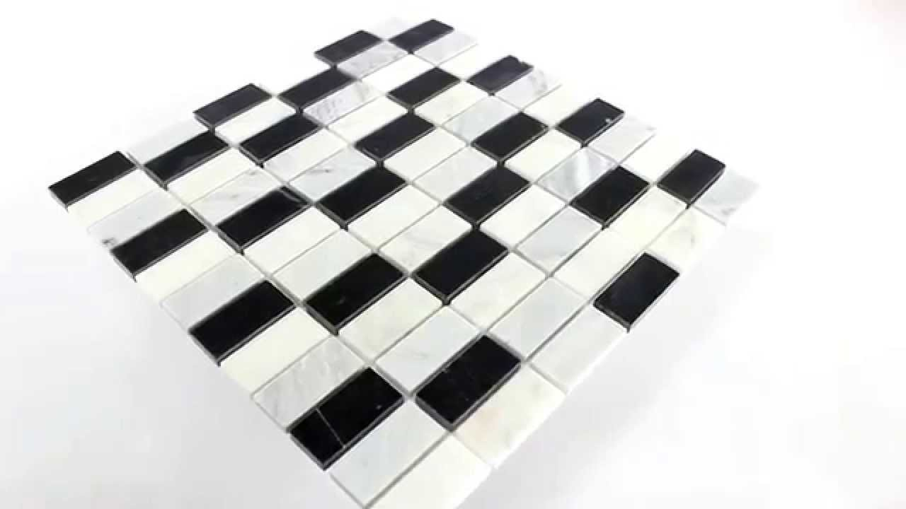 marmor mosaik fliesen schwarz weiss mix youtube. Black Bedroom Furniture Sets. Home Design Ideas