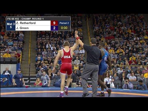 Olympic Wrestling Trials  James Green vs Zain Reherford   Highlight