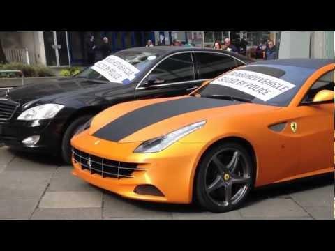 Orange and carbon Ferrari FF ( Ferrari hatchback ) seized by police in London