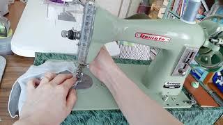 수동미싱으로 여름 마스크만들기/엔틱미싱 사용방법/옛날미…