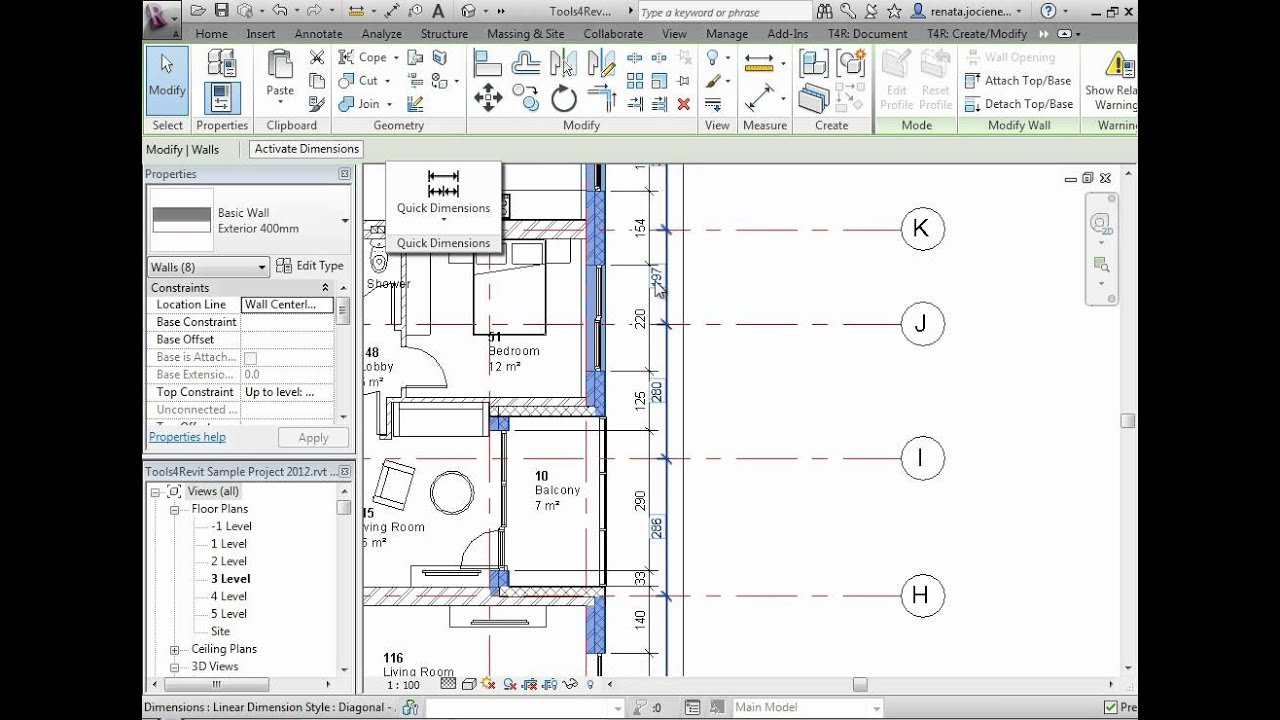 Revit Add-on for Automatic Dimensioning | Quick Dimensions