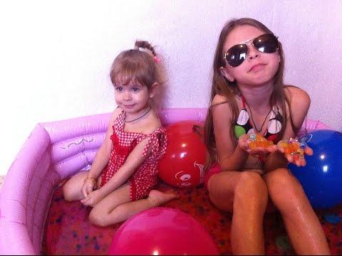Бассейн с разноцветными шариками Orbeez Challenge Купаемся и играем Орбиз и воздушными шарами pool