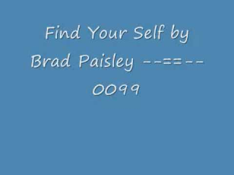 Find Your Self by Brad Paisley