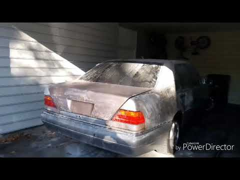 1995 Mercedes s500 w140 spray paint project