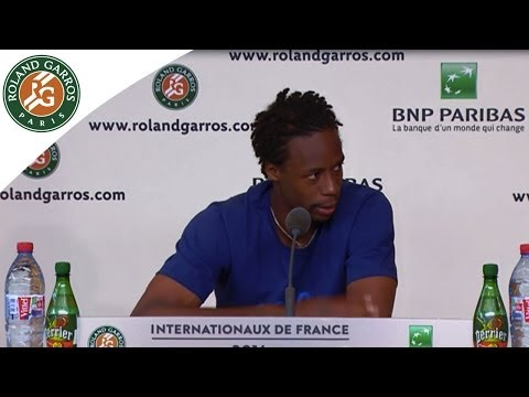 Press conference G.Monfils 2014 French Open R4