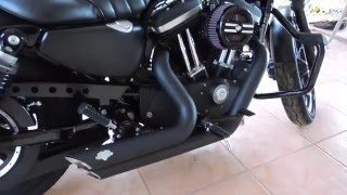 harley davidson iron 883 2016 black vance hines shortshots before and after