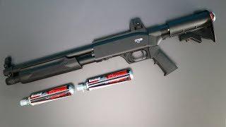 Testschießen mit der stärksten Pumpgun Deutschlands - Shotgun mit 7,5 Joule