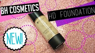 bh cosmetics hd foundation   review demo