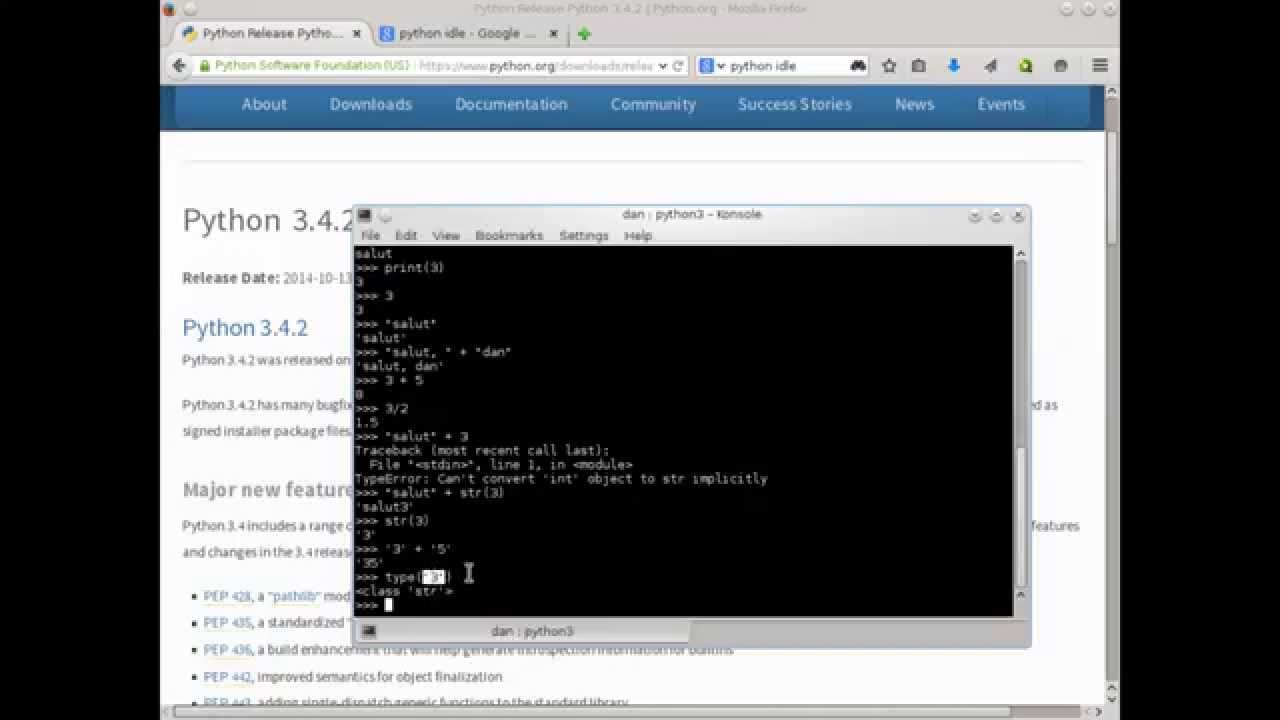 Curs Python - partea 1: Instalare, tipuri de date, operații