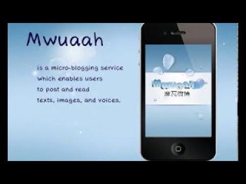 Mwuaah, Voice Micro blogging app.