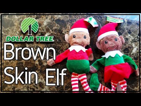How To Make Brown Skinned Dollar Tree Elf Elves ( African American Elves ) Dye Elf Darker Skin Tone