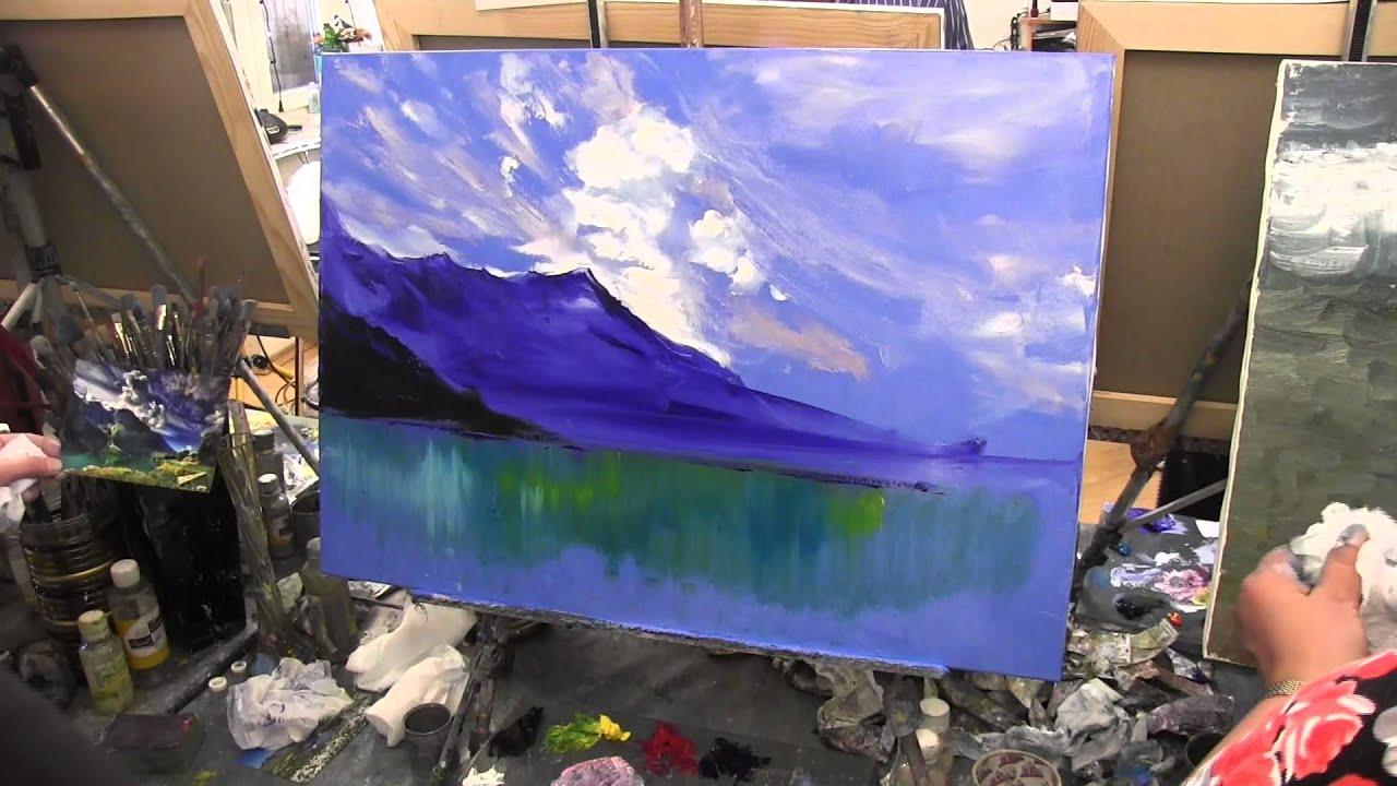 озеро и горный мотив , рисунок маслом ...: www.youtube.com/watch?v=BAB8-w5b67o