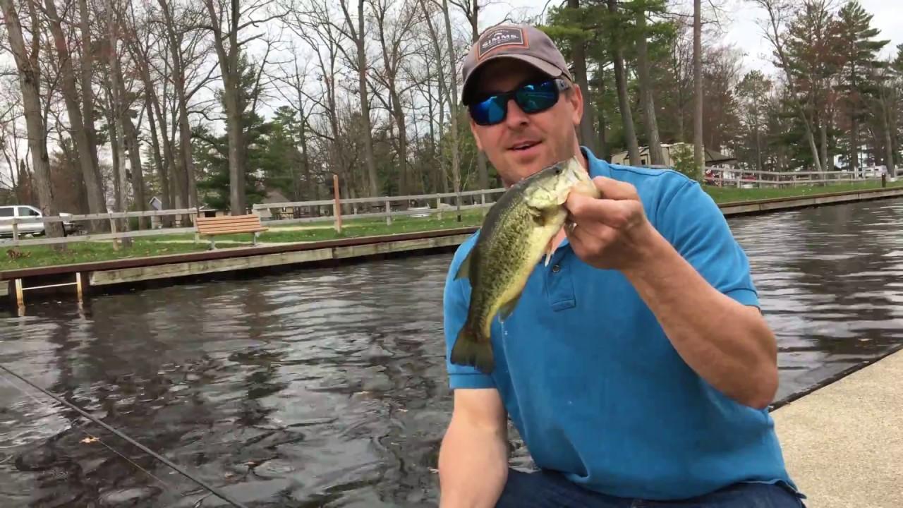 Catching A Bass Every Cast at Lake Cadillac, Cadillac, Michigan