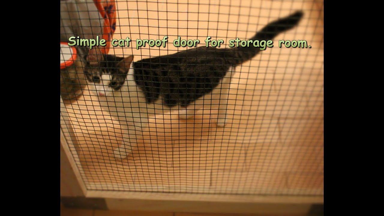 Making Simple Ventilated Cat Proof Door For Storage Room