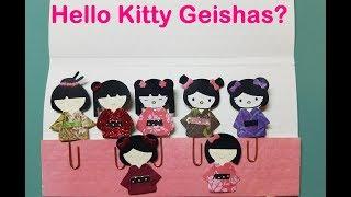 Project Share: Geisha Girls + Hello Kitty Geisha Paperclip Embellishments! Super Kawaii!