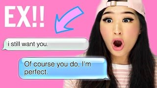 Reacting To The Funniest Texts From Exes!