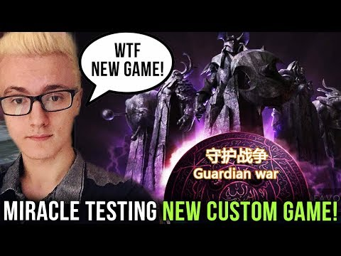 """Miracle- Playing New Dota 2 Custom Map """"Guardian War"""" with KuroKy - How long will they Survive?! thumbnail"""
