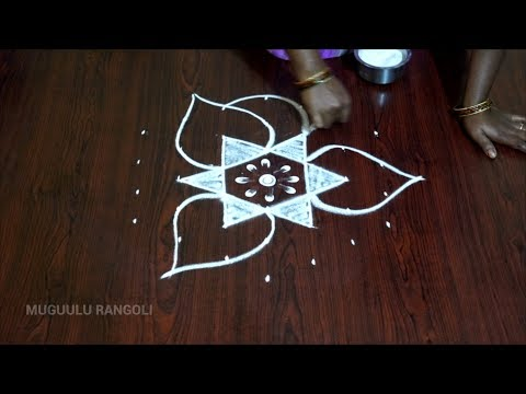 7 to 4 pulli kolam small rangoli designs with 7 dots 7 dots rangoli kolam rangoli with dots 7 by 4
