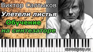 Обучение игре на синтезаторе (Ямаха PSR-S910). Виктор Салтыков (группа Форум) - Улетели листья