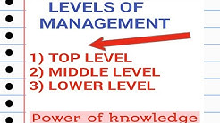Levels Of Management and Functions (Business Studies Class 12th)